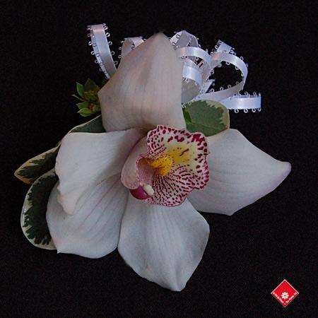 bouquet de corsage orchid e cymbidium montr al le pot de fleurs. Black Bedroom Furniture Sets. Home Design Ideas