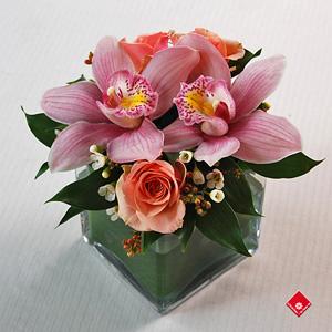 arrangement floral d orchid es montr al le pot de fleurs. Black Bedroom Furniture Sets. Home Design Ideas