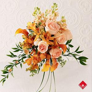 Bouquet pour mariée champêtre, mariage à Montréal · Le Pot de Fleurs